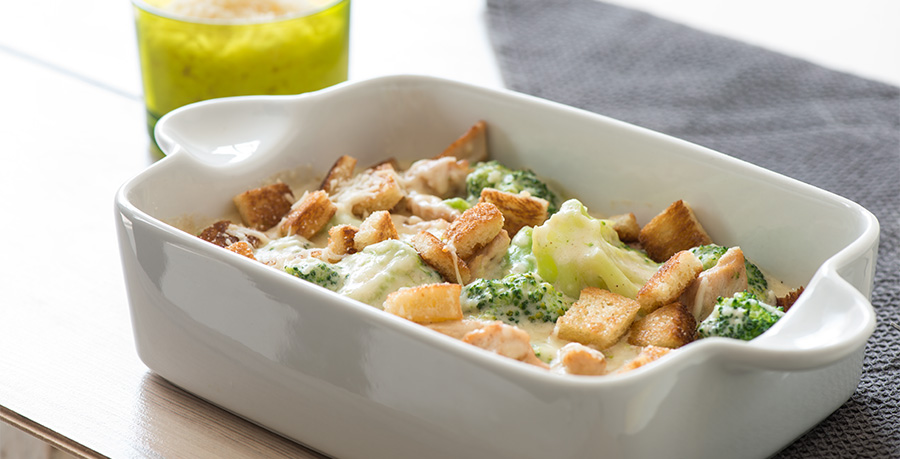 Chicken and Broccoli Gratin