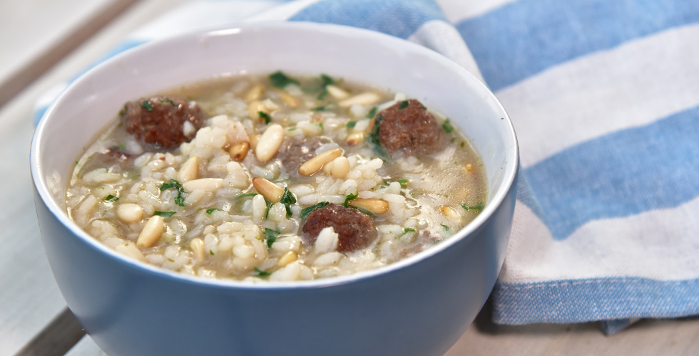 Meatball and Rice Soup