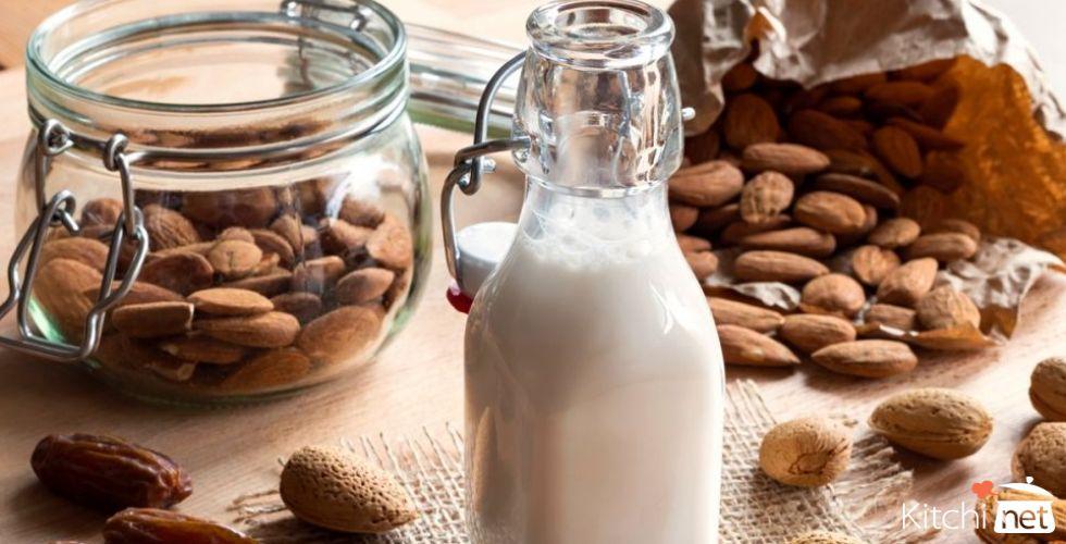 ست فوائد لحليب اللوز