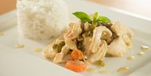 Chicken Supreme with Minted Rice