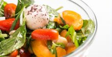 Salad Goat Labneh with Apricot