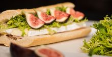 Parma ham,brie and Fig Sandwich