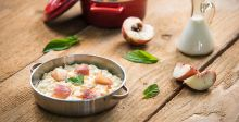 Vanilla and Peaches Risotto