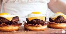 Breakfast Burgers for Fathers Day