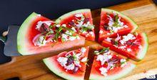 Greek Watermelon Pizza
